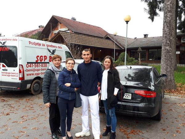 Pracownicy firmy z wizytą w Słowenii